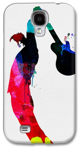 Multicolored Digital Galaxy S4 Cases - Roger Watercolor Galaxy S4 Case by Naxart Studio