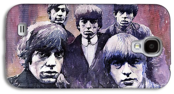 Stones Paintings Galaxy S4 Cases - Rolling Stones  Galaxy S4 Case by Yuriy  Shevchuk