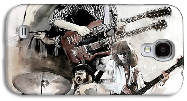 Rolling Thunder Led Zeppelin Galaxy S4 Case by Iconic Images Art Gallery David Pucciarelli
