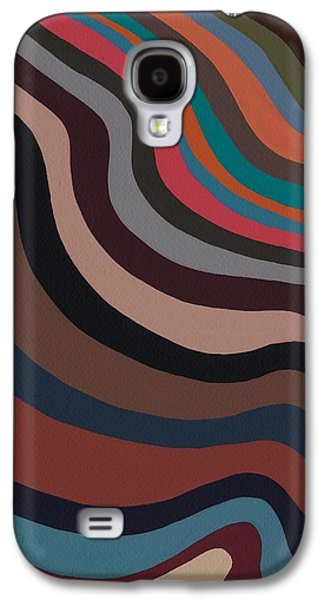 Abstract Expressionist Galaxy S4 Cases - Rolling Waves Galaxy S4 Case by Sarah Gillard
