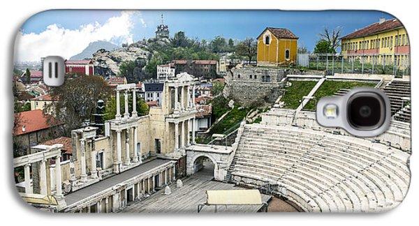 Original Art Photographs Galaxy S4 Cases - Roman Amphitheatre Plovdiv Bulgaria Galaxy S4 Case by World Art Photography