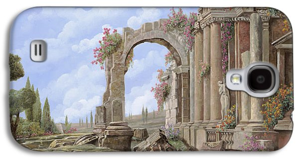 Columns Galaxy S4 Cases - Roman ruins Galaxy S4 Case by Guido Borelli