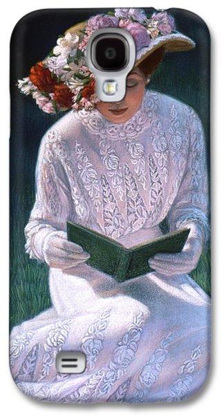 Portrait Pastels Galaxy S4 Cases - Romantic Novel Galaxy S4 Case by Sue Halstenberg