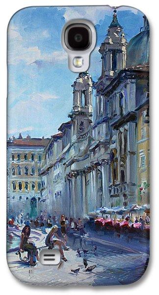 City Scape Galaxy S4 Cases - Rome Piazza Navona Galaxy S4 Case by Ylli Haruni