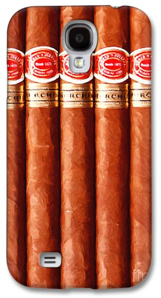 Quiet Time Photographs Galaxy S4 Cases - Romeo y Julieta Churchill Cigars 20150829 vertical Galaxy S4 Case by Wingsdomain Art and Photography