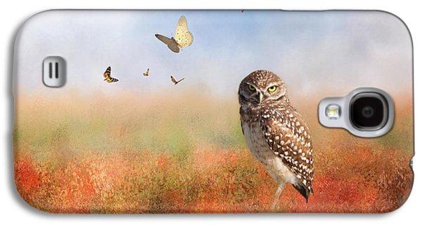 Romping In The Poppy Field Galaxy S4 Case by Kim Hojnacki