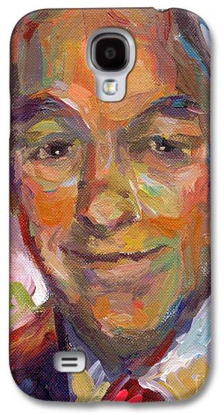 Photo Drawings Galaxy S4 Cases - Ron Paul art impressionistic painting  Galaxy S4 Case by Svetlana Novikova