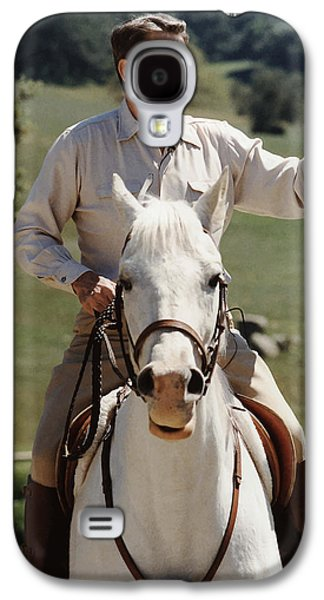 Ronald Reagan Galaxy S4 Cases - Ronald Reagan On Horseback  Galaxy S4 Case by War Is Hell Store