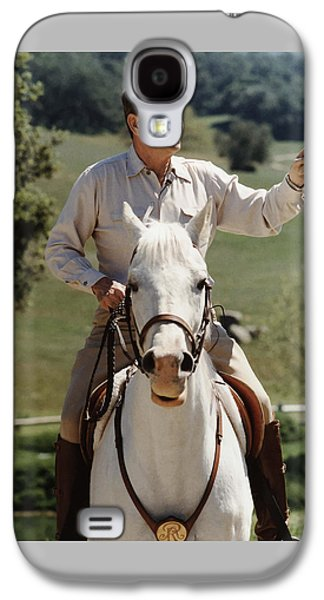 Ronald Reagan On Horseback  Galaxy S4 Case by War Is Hell Store