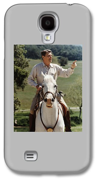 Cold Galaxy S4 Cases - Ronald Reagan On Horseback  Galaxy S4 Case by War Is Hell Store