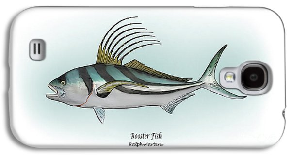 Gamefish Drawings Galaxy S4 Cases - Roosterfish Galaxy S4 Case by Ralph Martens