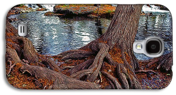 Tree Roots Mixed Media Galaxy S4 Cases - Roots on the River Galaxy S4 Case by Stephen Anderson