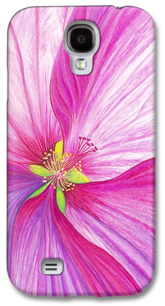 Floral Pastels Galaxy S4 Cases - Rose Mallow Galaxy S4 Case by Amy Tyler
