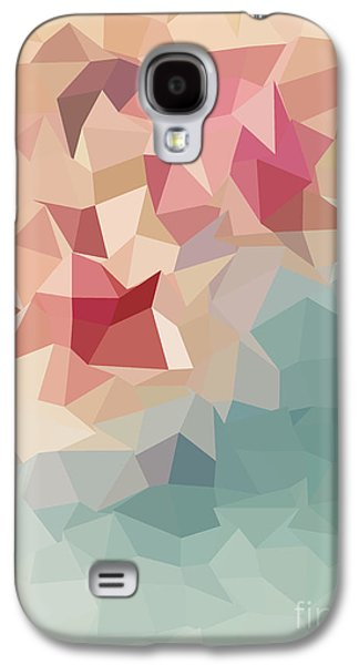 Colorful Abstract Galaxy S4 Cases - Rose Poly Galaxy S4 Case by Anita Fugoso