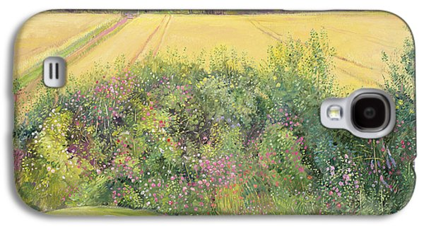 Roses And Cornfield Galaxy S4 Case by Timothy Easton