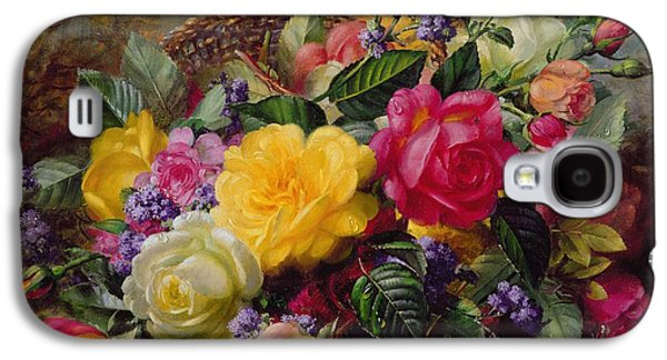 Roses By A Pond On A Grassy Bank  Galaxy S4 Case by Albert Williams