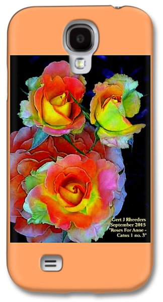 Abstract Digital Pastels Galaxy S4 Cases - Roses For Anne - Catus 1 no. 3 H A Galaxy S4 Case by Gert J Rheeders