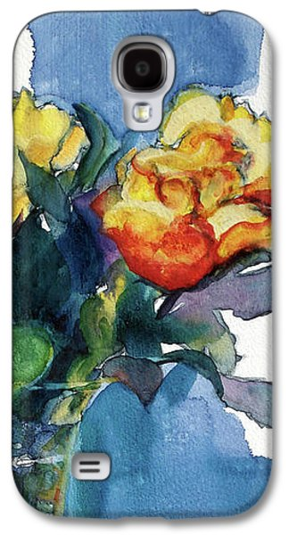 Roses In Vase Still Life I Galaxy S4 Case by Kathy Braud