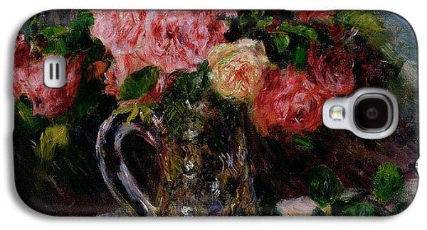 Roses Galaxy S4 Case by Pierre Auguste Renoir