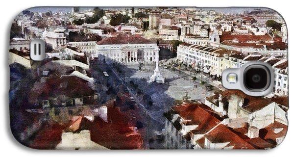 Portuguese Mixed Media Galaxy S4 Cases - Rossio Square Galaxy S4 Case by Dariusz Gudowicz