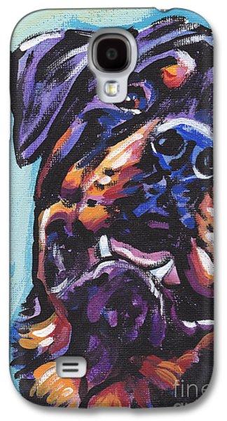 Rottie Power Galaxy S4 Case by Lea S