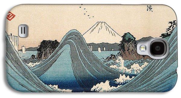 Rough Seas At Shichiri Beach Galaxy S4 Case by Hiroshige