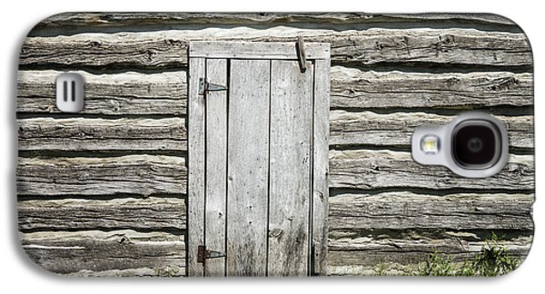 Log Cabin Interiors Galaxy S4 Cases - Rough Wood Door on Log Building Galaxy S4 Case by Donald  Erickson
