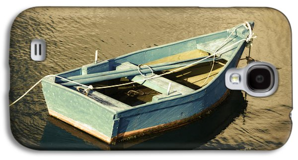 Rowboat Digital Art Galaxy S4 Cases - Rowboat at Twilight Galaxy S4 Case by Mary Machare