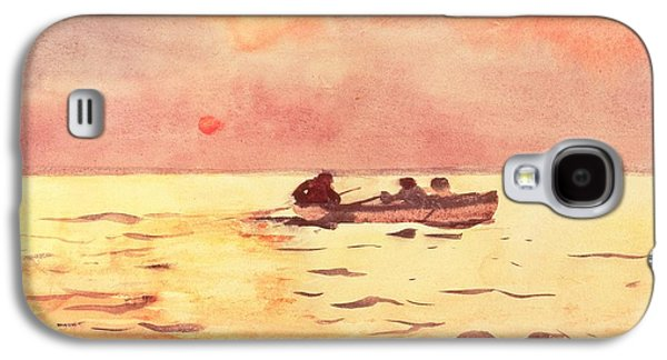 Yachting Galaxy S4 Cases - Rowing Home Galaxy S4 Case by Winslow Homer
