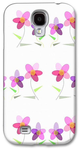 Rows Of Flowers Galaxy S4 Case by Kathleen Sartoris