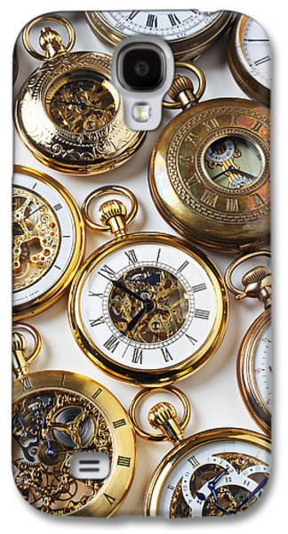 Mechanism Photographs Galaxy S4 Cases - Rows Of Pocket Watches Galaxy S4 Case by Garry Gay