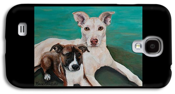 Boxer Galaxy S4 Cases - Roxie and Lacey the Rescue Dogs Galaxy S4 Case by Karen Dortschy