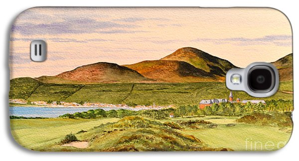 First Lady Paintings Galaxy S4 Cases - Royal County Down Golf Course Galaxy S4 Case by Bill Holkham