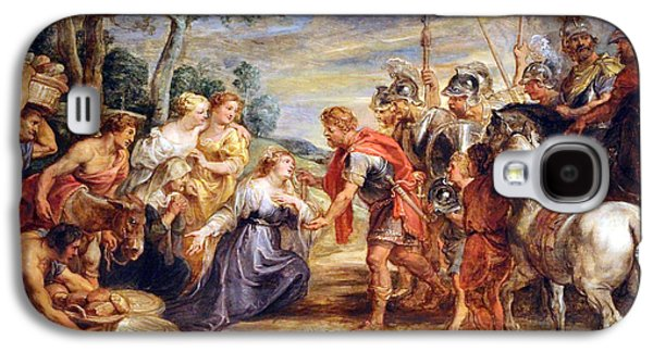 Peter Paul (1577-1640) Galaxy S4 Cases - Rubens The Meeting Of David And Abigail Galaxy S4 Case by Cora Wandel
