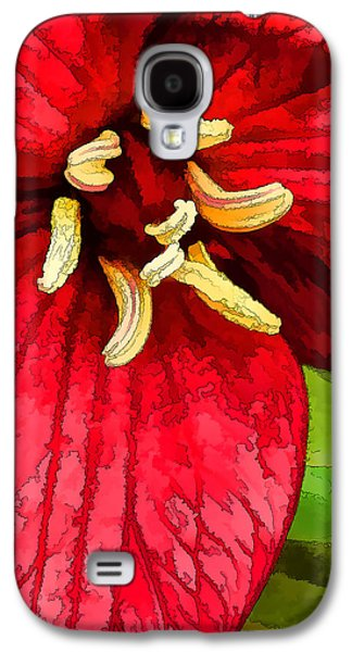 Photographic Art Galaxy S4 Cases - Ruby Red Trillium Galaxy S4 Case by Bill Caldwell -        ABeautifulSky Photography