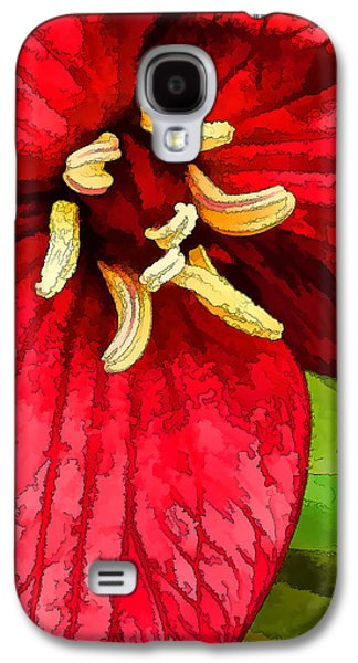 Digitally Manipulated Galaxy S4 Cases - Ruby Red Trillium Galaxy S4 Case by Bill Caldwell -        ABeautifulSky Photography
