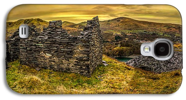 Dilapidated Digital Galaxy S4 Cases - Ruins of Snowdonia Panorama Galaxy S4 Case by Adrian Evans
