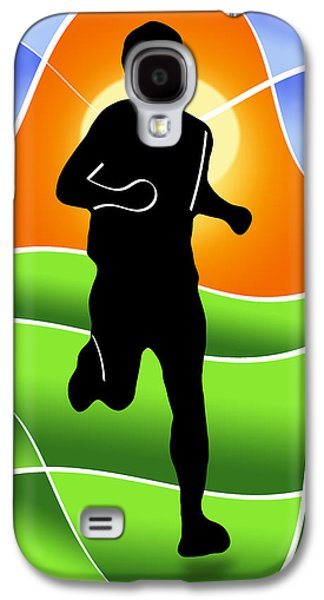 Jogging Digital Art Galaxy S4 Cases - Run Galaxy S4 Case by Stephen Younts