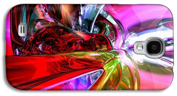 Computer Generated Galaxy S4 Cases - Runaway Color Abstract Galaxy S4 Case by Alexander Butler