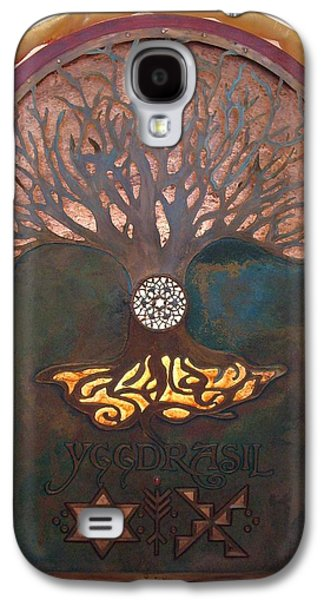 Copper Galaxy S4 Cases - Runes for Restoration illuminated Galaxy S4 Case by Shahna Lax