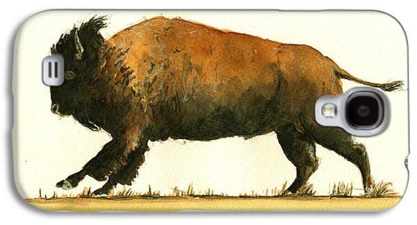 Running American Buffalo Galaxy S4 Case by Juan  Bosco