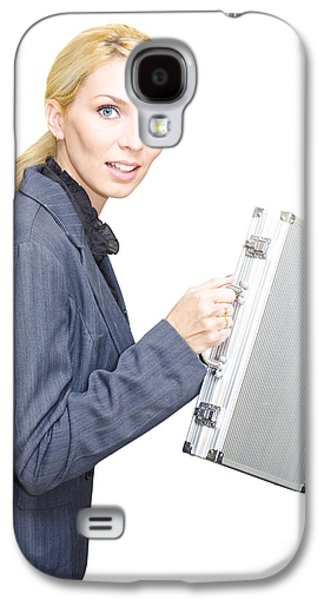 Running Business Woman Galaxy S4 Case by Jorgo Photography - Wall Art Gallery