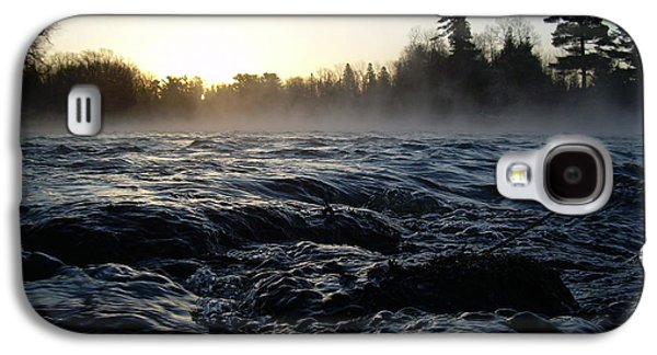 Waterscape Pyrography Galaxy S4 Cases - Rushing water in Missississippi river Galaxy S4 Case by Kent Lorentzen