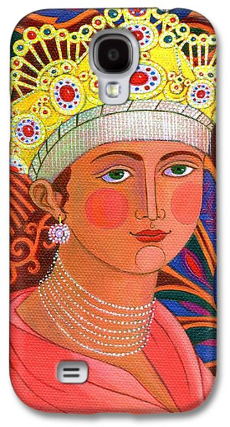 Gold Necklace Galaxy S4 Cases - Russian Princess Galaxy S4 Case by Jane Tattersfield