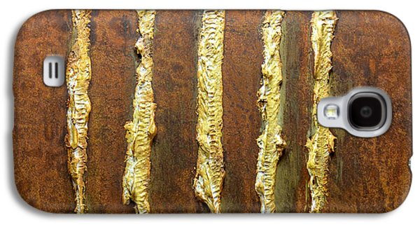 Modern Abstract Reliefs Galaxy S4 Cases - Rust Art #4 Galaxy S4 Case by Michael Kuelbel