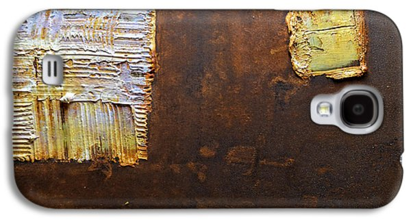 Modern Abstract Reliefs Galaxy S4 Cases - Rust Art #5 Galaxy S4 Case by Michael Kuelbel