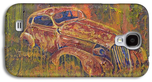 Alga Galaxy S4 Cases - Rusted Coupe Galaxy S4 Case by Chuck Jett