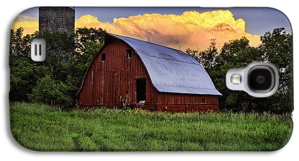 Red Roofed Barn Galaxy S4 Cases - Rustic Glory Galaxy S4 Case by Thomas Zimmerman