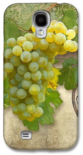 Rustic Vineyard - Chardonnay White Wine Grapes Vintage Style Galaxy S4 Case by Audrey Jeanne Roberts