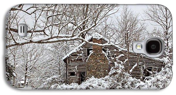Rustic Winter Cabin Galaxy S4 Case by Benanne Stiens